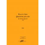 Aho Kalevi: Quartetto piccolo jousikvartetille, partituuri