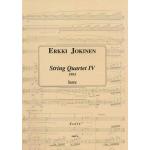 Jokinen Erkki: Jousikvartetto nro 4, partituuri